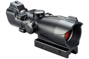 Bushnell 1x MP Red Dot Scope w/ Zombie Red/Green T-Dot Reticle,Matte Black, Clam AR730132ZC